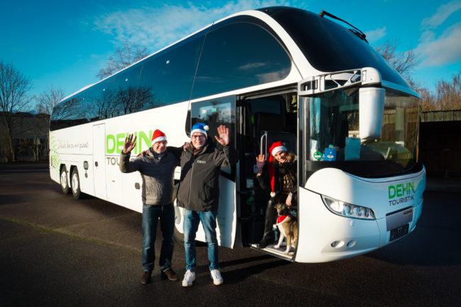 Dehn Bus Winken Weihnachtsgruß